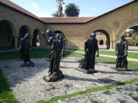 The Burghers of Calais are nearby on campus. #Stanford has a great #Rodin Collection.