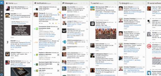 Screenshot als Beispiel für die Einrichtung eines Tweetdeck Accounts