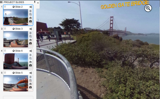 Please click on the Screenshot to start our virtuel tour cross the Golden Gate Bridge.