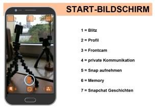 Abbildung 1: Startscreen von SnapChat