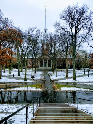 Harvard Yard (View from Widener Library to Memorial Church, Dec 2017)