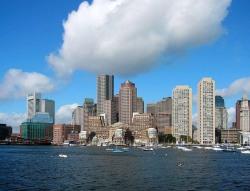 Blick über den Charles River vom MIT in die Stadt