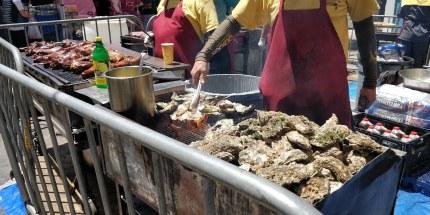 BBQ: Austern