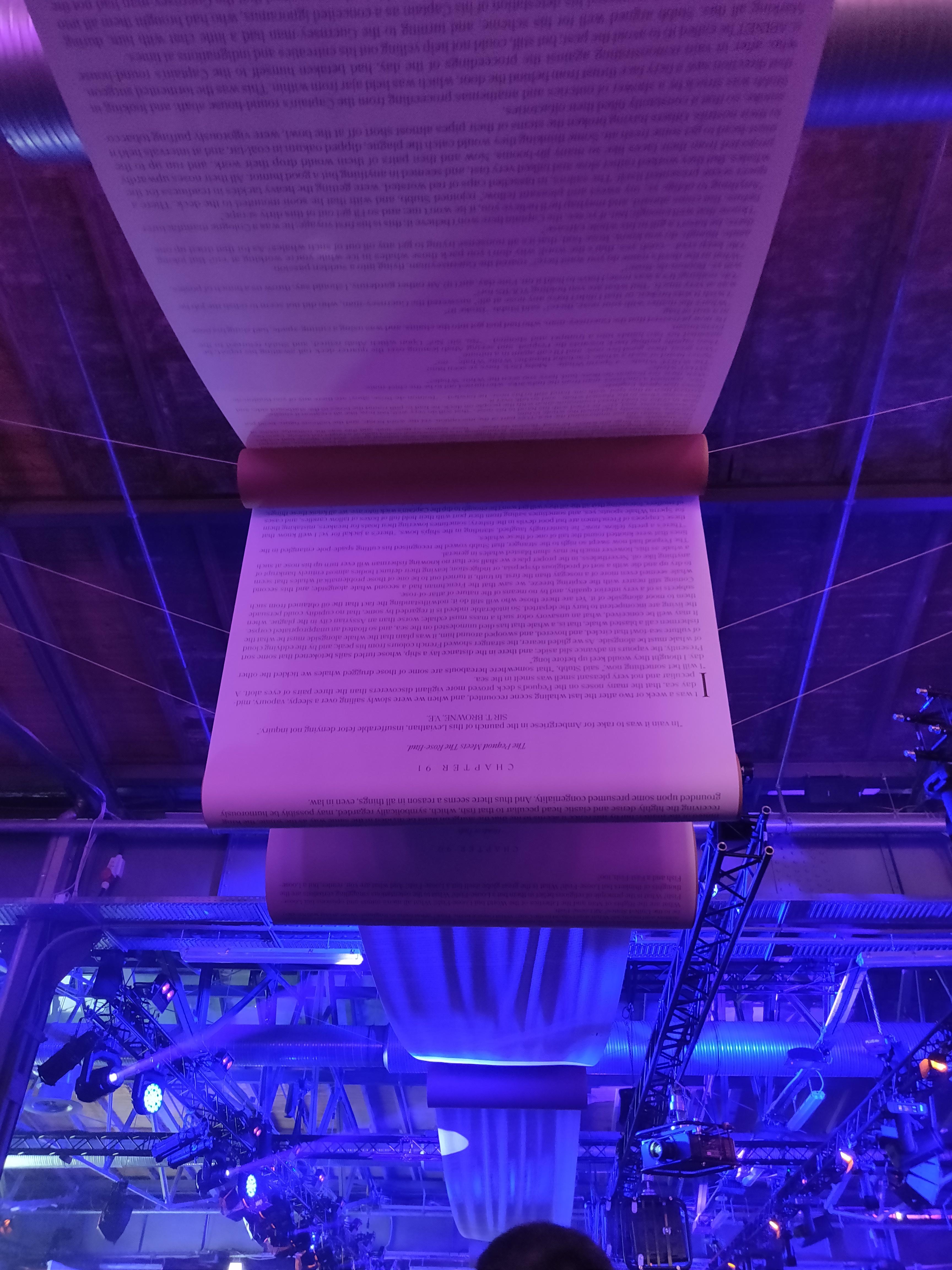 Der Inhalt von Moby-Dick, Roman von Herman Melville, verbindet die Hallen der re:publica 2019 miteinander